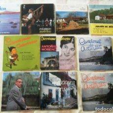 Discos de vinilo: LOTE 10 SINGLES MÚSICA ASTURIANA. Lote 269719458