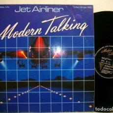 Discos de vinilo: MODERN TALKING JET AIRLINER FASTEN-SEAT-BELT-MIX MAXI-SINGLE LP. Lote 269725313