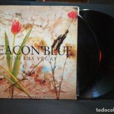 Discos de vinilo: DEACON BLUE- OOH LAS VEGAS - SPAIN DOBLE LP 1990 + ENCARTE PEPETO. Lote 269745408