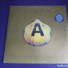 Discos de vinilo: ALTERN 8 – FULL ON .. MASK HYSTERIA - LP + MAXISINGLE NETWORK 1992 - ELECTRONICA BREAKBEAT HARDCORE. Lote 269746683