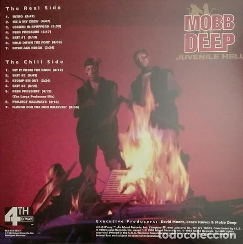 Discos de vinilo: LP MOBB DEEP - Juvenile Hell - 4th & Broadway 162-444 053-1 - REedicion - NUEVO !!!!* - Foto 2 - 269760488