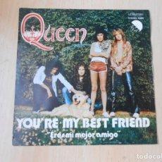 Discos de vinilo: QUEEN, SG, YOU´RE MY BEST FRIEND + 1, AÑO 1976. Lote 269780748