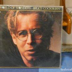 Discos de vinilo: LP CLASICO DEL ROCK AMERICANO BRUCE COCKBURN WORLD OF WONDERS 1985 MUY BUEN ESTADO. Lote 269824658