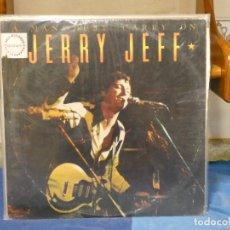 Discos de vinilo: LP JERRY JEFF A MAN MUST CARRY ON, DOBLE LP COUNTRY USA 77 MUY BUEN ESTADO GENERAL. Lote 269828128
