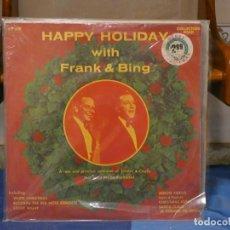 Discos de vinilo: LP UK 70S FRANK SINATRA AND BRING CROSBY SELLADO FABRICA, HAPPY HOLIDAY. Lote 269828338