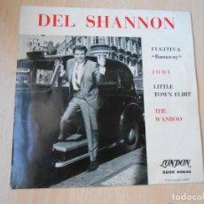 Dischi in vinile: DEL SHANNON, EP, FUGITIVA (RUNAWAY) + 3, AÑO 1963. Lote 269832023