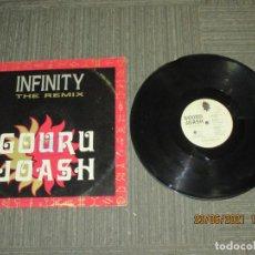 Discos de vinilo: GOURU JOASH - INFINITY ( THE REMIX ) - MAXI - ITALIA - DISCOMAGIC RECORDS - IBL -. Lote 269835408