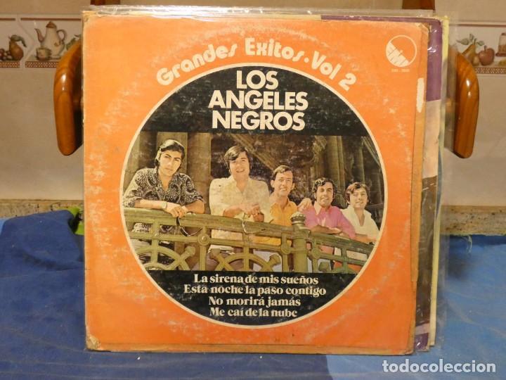 LP VENEZUELA 1977 LO MEJOR DE LOS ANGELES NEGROS 2 CIERTO USO, AUN DECENTE (Música - Discos - LP Vinilo - Jazz, Jazz-Rock, Blues y R&B)