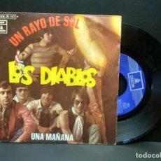Discos de vinilo: LOS DIABLOS UN RAYO DE SOL / UNA MAÑANA SINGLE 1970 EMI ODEON PEPETO. Lote 269850538