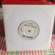 Discos de vinilo: PET SHOP BOYS - SO HARD / RARE SINGLE PROMO UK 1990, NM-NM. Lote 269850723