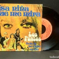 Disques de vinyle: SINGLE LOS PUNTOS - ESA NIÑA QUE ME MIRA - SOLO LA HE VISTO UN DIA - POLYDOR 1974 PEPETO. Lote 269850918