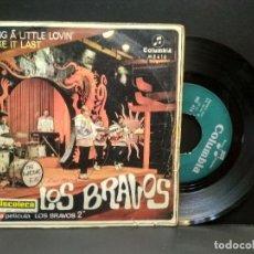 Discos de vinilo: LOS BRAVOS, BRING A LITTLE LOVIN / MAKE IT LAST, SINGLE 1967, COLUMBIA PEPETO. Lote 269938268