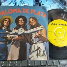 Discos de vinilo: PEDRO MESSONE PALOMA DE PLATA / NANO PARRA VOLANDO POR LAN SINGLE CHILE 1971. Lote 269947358