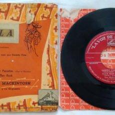 Discos de vinilo: SINGLE DON LANG CON SUS FRANTIC FIVE: TEQUILA/ WITCH DOCTOR. KEN MACKINTOSH Y SU ORQUESTA: ALMOST.... Lote 269948633