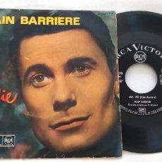 Disques de vinyle: SINGLE ALAIN BARRIERE. MA VIE, ADEU LA BELLE, UN ETE. RCA, 1964.. Lote 269948988