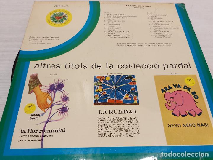 Discos de vinilo: XESCO BOIX / LA SOPA DE PEDRES / CONTES I CANÇONS PER A LA MAINADA / LP-PARDAL / MBC.***/*** ENCARTE - Foto 2 - 269829758