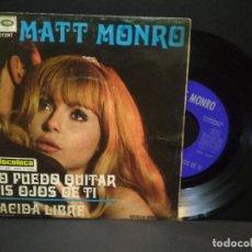 Discos de vinilo: MATT MONRO - NO PUEDO QUITAR MIS OJOS DE TI SINGLE SPAIN CAPITOL/ EMI RECORDS 1969 PEPETO. Lote 269951553