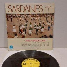 Discos de vinilo: COBLA BARCELONA / SARDANES VOL. 1 / LP - ARLEQUIN-1974. Lote 269955258