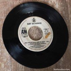 Discos de vinilo: BURT BACHARACH / UNAS GOTAS DE LLUVIA SOBRE MI CABEZA / NO ME ENAMORARE OTRA VEZ. Lote 269959913