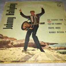 Discos de vinilo: JOHNNY HALLYDAY-TES TENDRES ANNEES-POUPEE BRISEE-ORIGINAL ESPAÑOL 1963. Lote 269970878