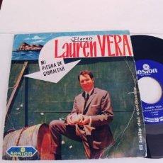 Discos de vinilo: LAUREN VERA-SINGLE MI PIEDRA DE GIBRALTAR. Lote 269984293