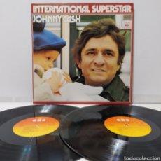 Discos de vinilo: JOHNNY CASH - INTERNATIONAL SUPERSTAR 1972 ED HOLANDESA GATEFOLD. Lote 269985933