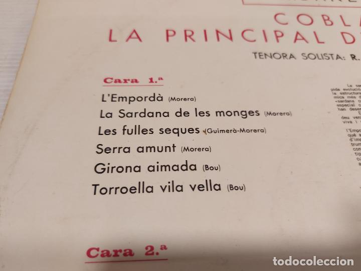 Discos de vinilo: COBLA LA PRINCIPAL DE LA BISBAL / SARDANAS / R. VILADESAU / 2 / LP - DISCOPHON-1961 / MBC. ***/*** - Foto 3 - 269990613