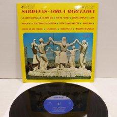Discos de vinilo: COBLA BARCELONA / SARDANAS / LP - PALOBAL-1967 / MBC. ***/***. Lote 269990838