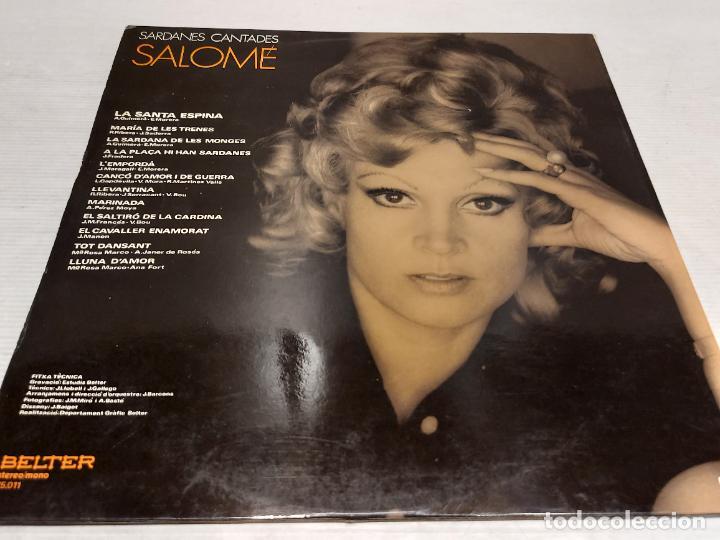 Discos de vinilo: SALOMÉ / SARDANES CANTADES / LP-GATEFOLD - BELTER-1971 / MBC. ***/*** - Foto 3 - 269991208