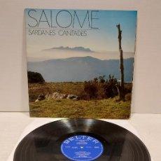 Discos de vinilo: SALOMÉ / SARDANES CANTADES / LP-GATEFOLD - BELTER-1971 / MBC. ***/***. Lote 269991208