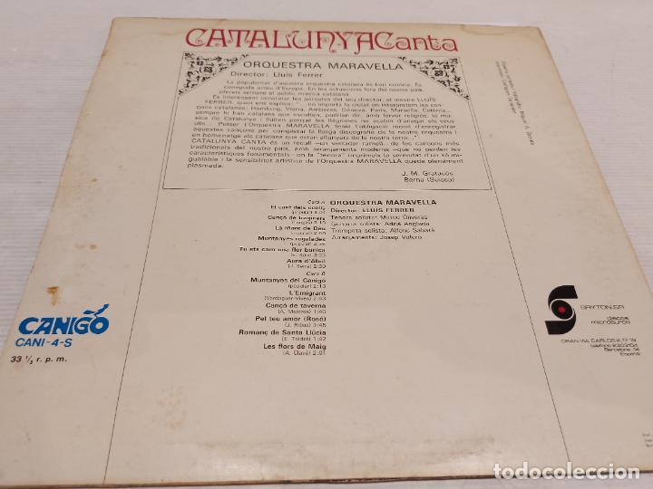 Discos de vinilo: ORQUESTRA MARAVELLA / LLUÍS FERRER / CATALUNYA CANTA / LP - CANIGÓ-1968 / MBC. ***/*** - Foto 2 - 269993333