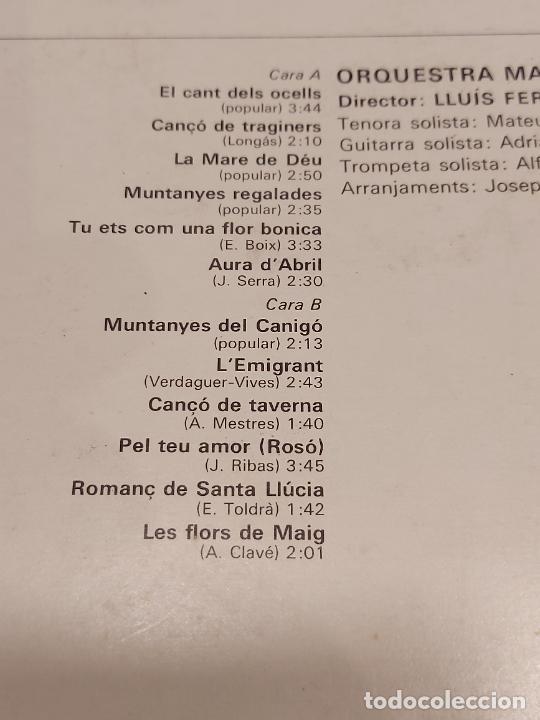 Discos de vinilo: ORQUESTRA MARAVELLA / LLUÍS FERRER / CATALUNYA CANTA / LP - CANIGÓ-1968 / MBC. ***/*** - Foto 3 - 269993333