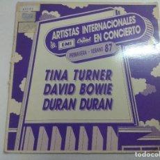 Discos de vinilo: VINILO/ARTISTAS INTERNACIONALES EN CONCIERTO/BOWIE-TINA TURNER-DURAN DURAN/PROMOCIONAL.. Lote 270088753