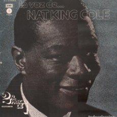 Discos de vinilo: LA VOZ DE... NAT KING COLE / DOBLE LP EMI DE 1977 / BUEN ESTADO RF-9734. Lote 270090253