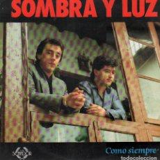 Discos de vinilo: SOMBRA Y LUZ - COMO SIEMPRE / LP SENADOR DE 1988 / BUEN ESTADO RF-9735. Lote 270090478
