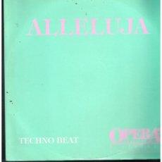 Discos de vinilo: TECHNO BEAT - ALLELUJA - MAXI SINGLE 1991 - ED. ITALIA. Lote 270106073