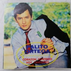Discos de vinilo: DISCO SINGLE, PALITO ORTEGA - CORAZON CONTENTO Y VOY CANTANDO, AÑO 1968, RCA VICTOR. Lote 270116633
