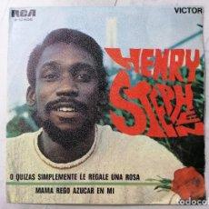 Discos de vinilo: DISCO SINGLE, HENRY STEPHEN - O QUIZAS SIMPLEMENTE LE REGALE UNA ROSA, AÑO 1969, RCA VICTOR. Lote 270116923