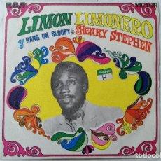 Discos de vinilo: DISCO SINGLE, HENRY STEPHEN - LIMON - LIMONERO Y HANG ON SLOOPY, AÑO 1968, RCA VICTOR. Lote 270117683