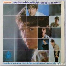 Discos de vinilo: DISCO SINGLE, RAPHAEL - CUANDO TU NO ESTAS Y TRES MAS, AÑO 1966, HISPAVOX. Lote 270118338