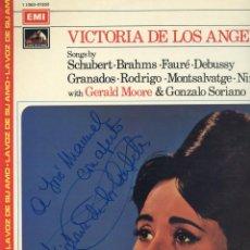 Discos de vinilo: VICTORIA DE LOS ANGELES ¡FIRMADO! SCHUBERT,BRAHMS,FAURÉ,DEBUSSY,GRANADOS,RODRIGO,MONTSALVATGE,NIN.. Lote 270121208
