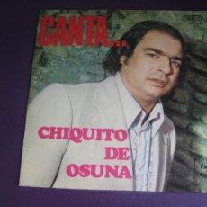 Discos de vinilo: CANTA CHIQUITO DE OSUNA + LELE DE OSUNA - LP DIRESA 1973 - FLAMENCO SIN USO - RARO. Lote 270121298