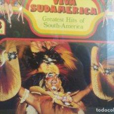 Discos de vinilo: BOX. 3 LP. VIVA SUDAMERICA - GREATESTS HITS OF SOUTH-AMERICA. (PRECINTADO). Lote 270121443