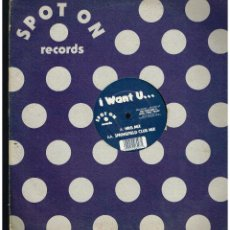 Discos de vinilo: ITCHY + SCRATCHY - I WANT U... - MAXI SINGLE 1995 - ED. UK. Lote 270121448