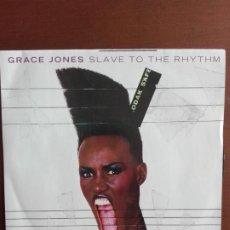 Discos de vinilo: JMFC - DISCO VINILO SINGLE - GRACE JONES - SLAVE TO THE RYTHM. Lote 270127078
