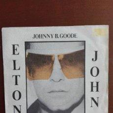 Discos de vinilo: JMFC - DISCO VINILO SINGLE - ELTON JOHN - THUNDER IN THE NIGHT. Lote 270127458