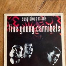 Discos de vinilo: VINILO MAXI 45 TOURS SUSPICIOUS MINDS - FINE YOUNG CANNIBALS - 1986. Lote 270131908