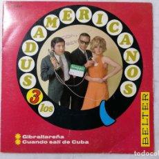 Discos de vinilo: DISCO SINGLE, LOS 3 SUDAMERICANOS - GIBRALTAREÑA Y CUANDO SALI DE CUBA, 1967, BELTER. Lote 270136903