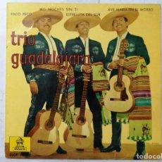 Discos de vinilo: DISCO SINGLE, TRIO GUADALAJARA, PACO PECO Y TRES CANCIONES MAS, 1962, ODEON. Lote 270138238