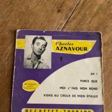 Discos de vinilo: SINGLE CHARLES AZNAVOUR 1 - 1955. Lote 270138278